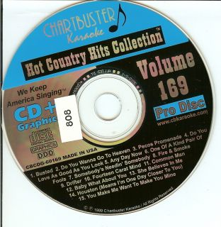 808) Karaoke CDG   Chartbuster   80s Hot Country Hits
