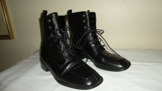 Coup D Etat Studio Black Genuine Leather Ankle Boots 8 5