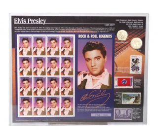 Elvis Presley Tribute Coin and Stamp Set —