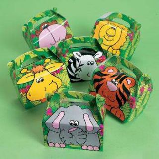 12 Zoo SAFARI Theme Dozen Kids Birthday Party Favors TREAT BOXES New