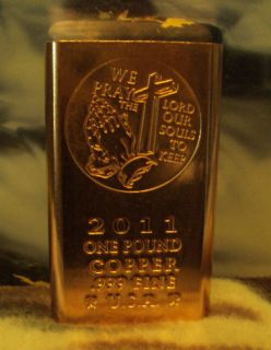 Jesus Christ Praying Pound 999 Copper Bullion Bar Wholesale Investment
