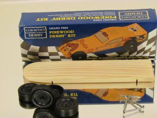 Official BSA, Complete, Lightning Fast Pinewood derby car kit By the