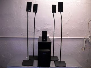 Bose Acoustimass 10 Series III Home Theater System Complete 4 Stands