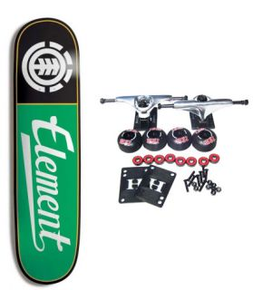 ELEMENT SKATEBOARDS Complete Skateboard TEAM SCRIPT GREEN 8