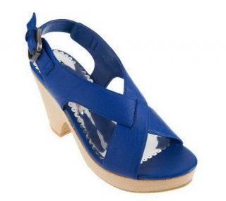 Jack Sprat Riva Criss Cross Wedge Sandals w/ Adj. Strap —