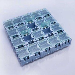 plastic electronic components box laboratory storage box 20pcs blue