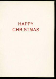 Noel Coward Vintage 1960s Original Christmas Card Xmas to Douglas