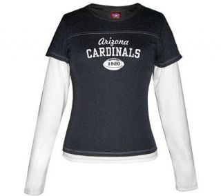 NFL Arizona Cardinals Womens Layered Long Sleeve T Shirt —