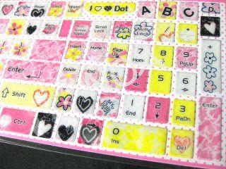 Cute Colorful English Desktop Laptop Keyboard Sticker SA01