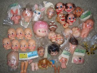 DOLL MAKING PARTS CRAFT SUPPLIES YARN HEAD FACES EYES ARMS MONKEY