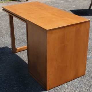 Conant Ball Russel Wright Desk Birch Mid Century Modern