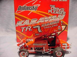 CRAIG DOLLANSKY KARAVAN TRAILERS R R SPRINT CAR 1 25 GMP WORLD OF