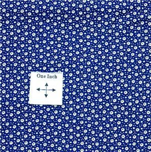Cranston Cotton Fabric Calico with Tiny White Flowers on Navy Blue Fat