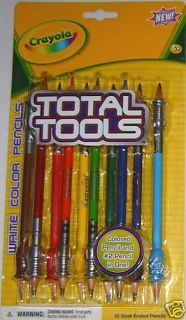 Pkg 10 Crayola Toal Tools Dual Ended Colored Pencils