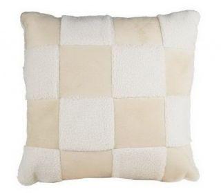 Liz Claiborne New York Checkered Faux Shearling Pillow   H168866