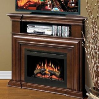 Dimplex 47 Corner Electric Fireplace Media Console   Espresso GDS25