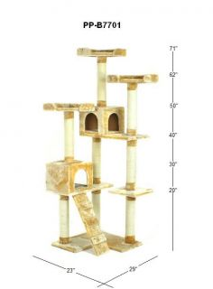 71 Cat Tree Condo Furniture Scratch Post Pet House