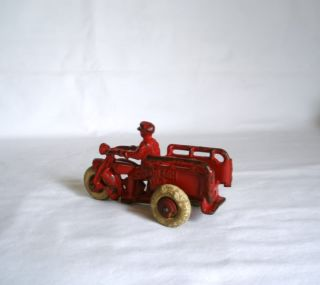 Hubley Crash Car Motorcycle Trike Cast Iron Toy Antique Harley Indian