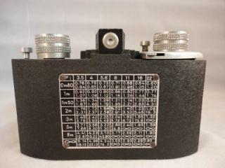 Berthiot 1 3 5 F 50 Ontobloc Coronto Paris Cornu Camera w Case