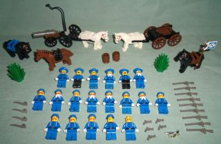 Lego Western Civil War Union Army Cavalry Soldiers Minifigures Lot