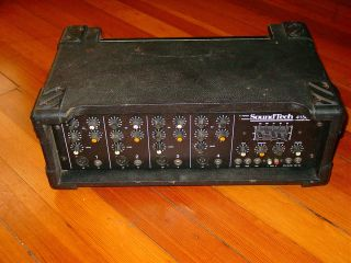 SoundTech Crate Powered Mixer P A Sound System Head Power Amp