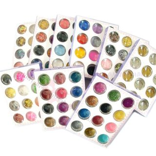 Decoration Nail Art Tip Glitter Gold Silver Bead Shell Confetti