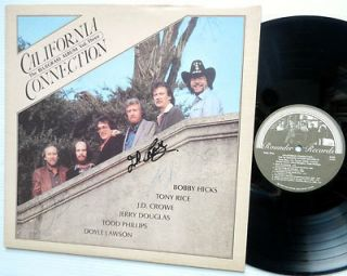 California Connection The Bluegrass Album Vol Three LP Autagraphed by