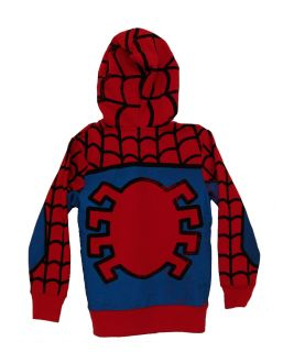 The Amazing Spider Man Marvel Comics Costume Mask Zip Up Youth Hoodie