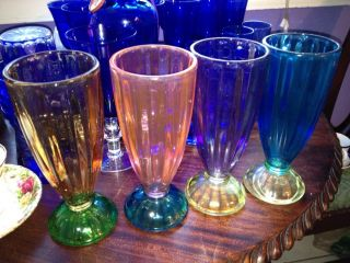 Ice Cream Soda Glasses in Pottery & Glass