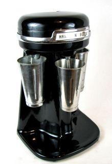 Vintage Ice Cream Soda Fountain HAMILTON BEACH 3 Spindle Black Malt
