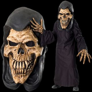 Huge Extreme Adult Grim Reaper Halloween Mask Costume