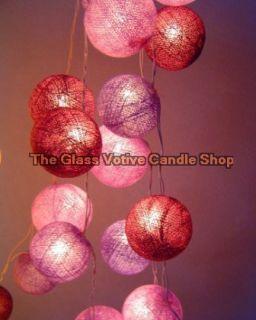 Purple Haze Cotton Balls Fairy Light String 3 Meters 20 Globe Hendrix
