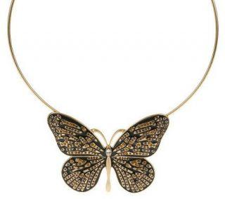 Wildlife by Heidi Klum Enamel &Crystal Butterfly Necklace   J265877