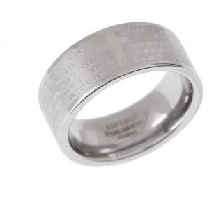 Steel by Design Silk Fit Our Father Prayer Ring —