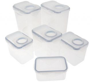 Lock & Lock 6 pc. Flip Top Food Storage Container Set —