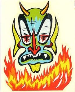 Vintage Devil Head Hot Rat Rod Impko Travel Decal Waterslide Sticker