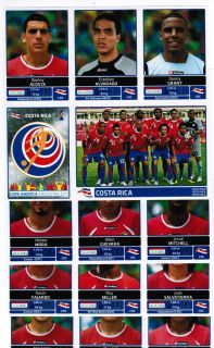 Copa America Argentina Extra Costa Rica Team Stickers Update