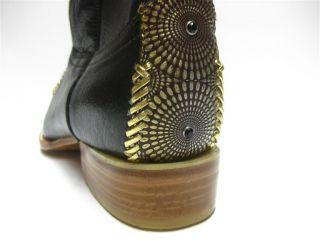 Mens Brown Leather Boots Designer Western Fancy Cowboy Rodeo Exotic