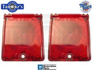 66 7 Nova Red Tail Back Up Light Lamp Lens Pair USA