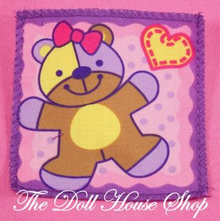 Family Dream Dollhouse Pink Baby Doll Nursery Crib Blanket