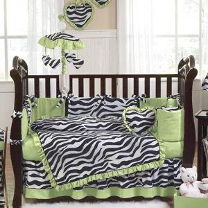 Cheap JoJo Zebra Print Discount Baby Girl Crib Bedding 9pc Luxury