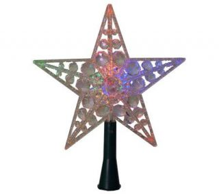 Point Star Color Changing Beaded Tree Topper —