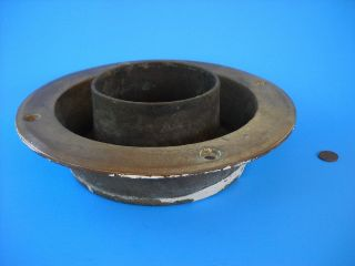 YACHT CAST BRONZE WATER DECK IRON FOR STOVE PIPE   WILCOX CRITTENDEN