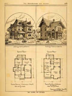 cottage floor plans victorian architecture house home architectural