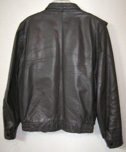 Cottrell Hayes Vtg Leather Motorcycle Jacket Gray Mens Size 38 M Torn