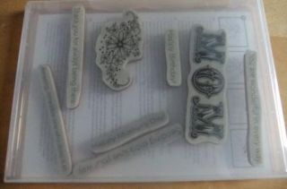 Clear Mount Set Messages for Mom Mothers Day Sending Love Bday