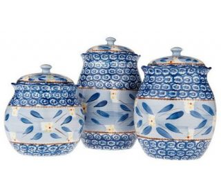 Temp tations Old World 3 piece Fluted Canister Set —
