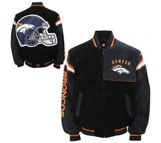 NFL Denver Broncos Genuine Suede Leather Jacket —