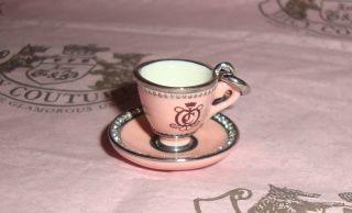 New Juicy Couture Tea Cup Charm for Bracelet Necklace Handbag Keychain