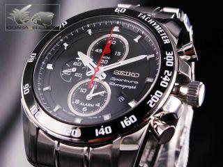 seiko watch sportura alarm chronograph 7t62 snae69p1